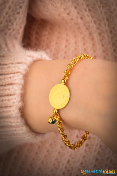 فروشگاه دستبند طلا زنانه برند SılaGold رنگ قرمز ty101287054