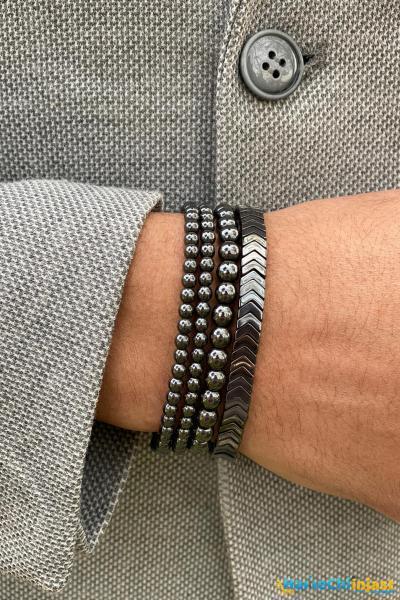 فروش اینترنتی دستبند مردانه با قیمت برند Zuk Collection رنگ نقره ای کد ty101371773