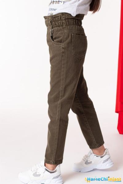 خرید انلاین شلوار لی طرح دار برند WOVS رنگ خاکی کد ty101717786