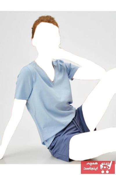 ژورنال تیشرت زنانه برند کوتون رنگ آبی کد ty102752345