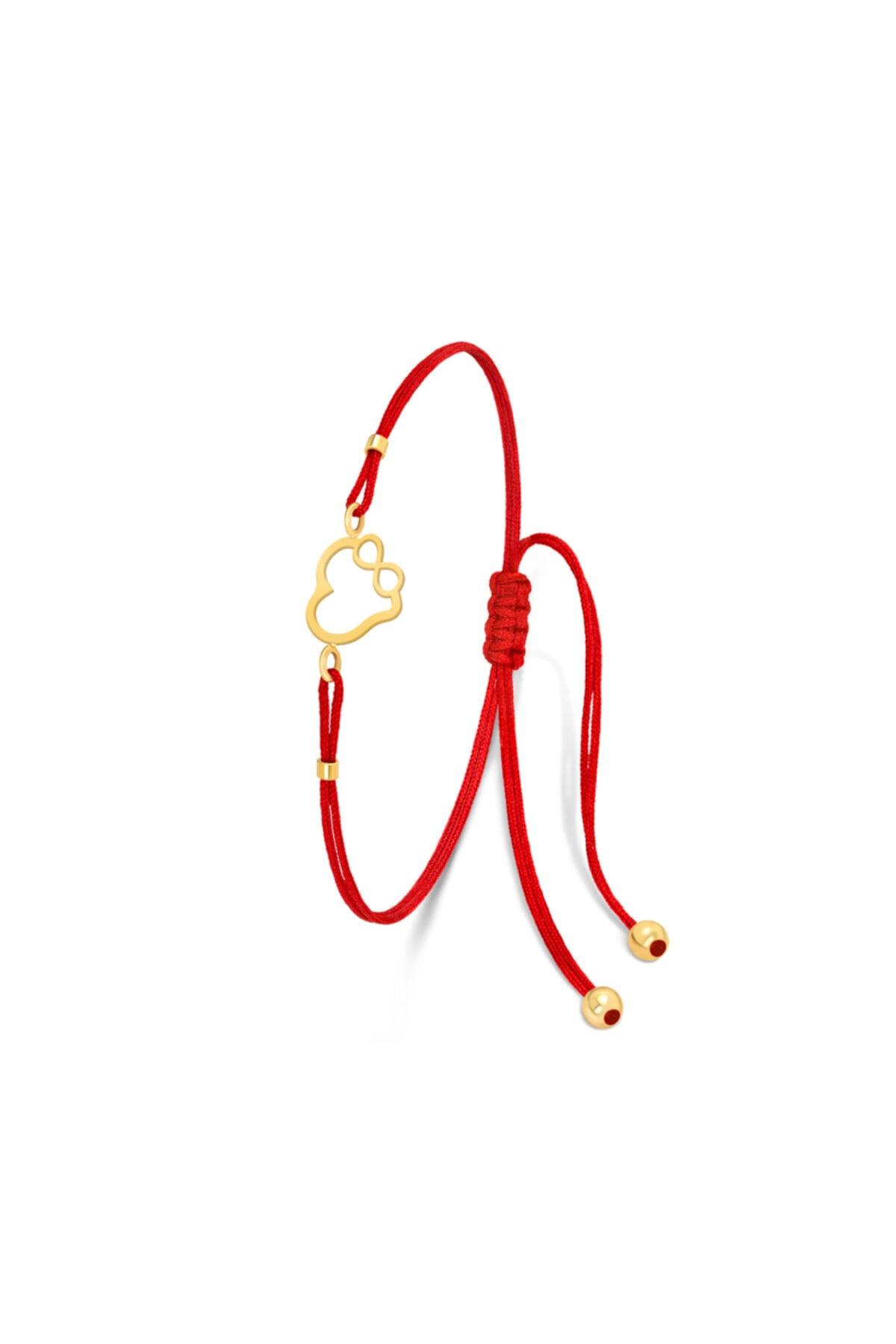 فروش دستبند طلا زنانه حراجی برند Fay Yamaner رنگ قرمز ty103026100