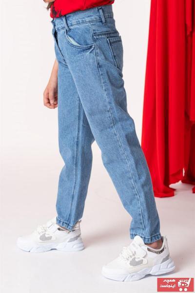 فروش شلوار جین بچه گانه دخترانه خفن برند WOVS رنگ آبی کد ty103869227