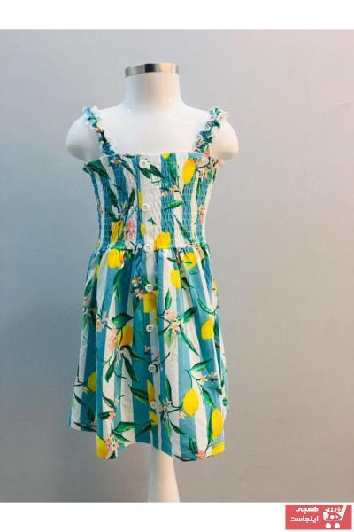 خرید نقدی پیراهن دخترانه  برند h&a BABY رنگ فیروزه ای ty104328328