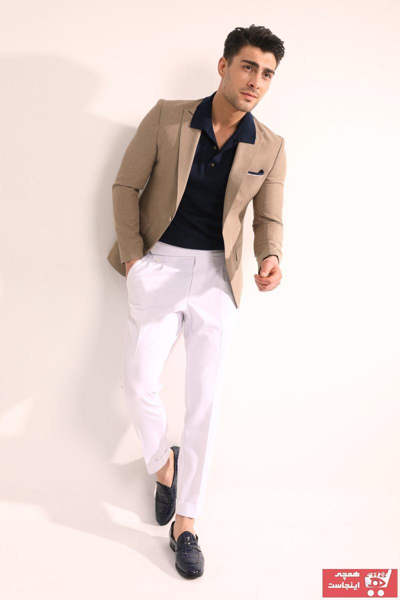خرید کت تک 2020 مردانه برند Fc Plus رنگ بژ کد ty105225683