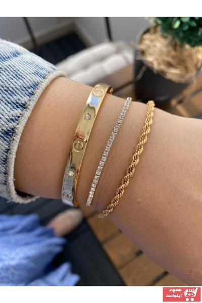 خرید ارزان دستبند فانتزی زنانه برند Jenny Daphne رنگ طلایی ty105656492
