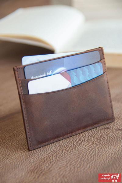 کیف کارت بانکی دخترانه پارچه برند carmada رنگ قهوه ای کد ty106457461
