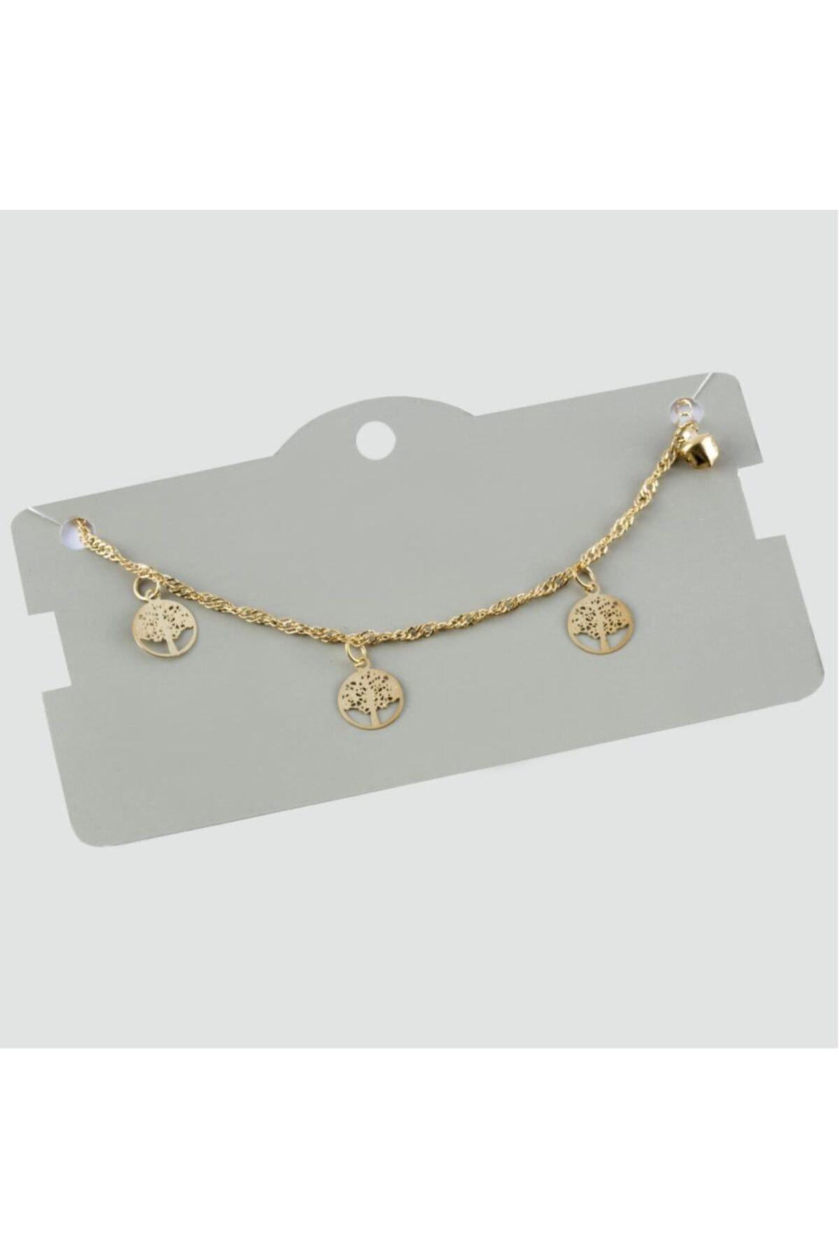پابند زنانه مارک دار برند AllaPulla رنگ طلایی ty106938316
