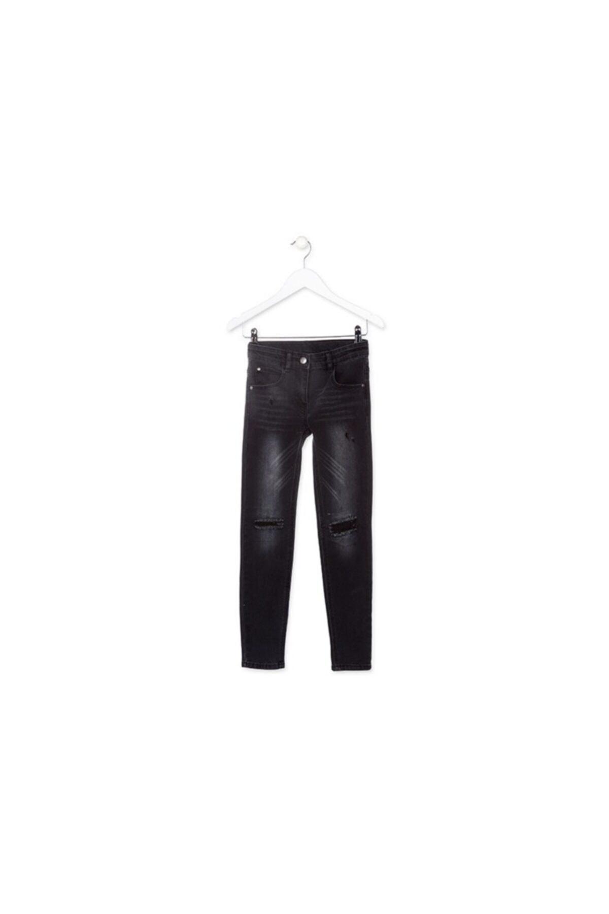 فروش اصل شلوار جین بچه گانه دخترانه برند LOSAN رنگ مشکی کد ty106995250