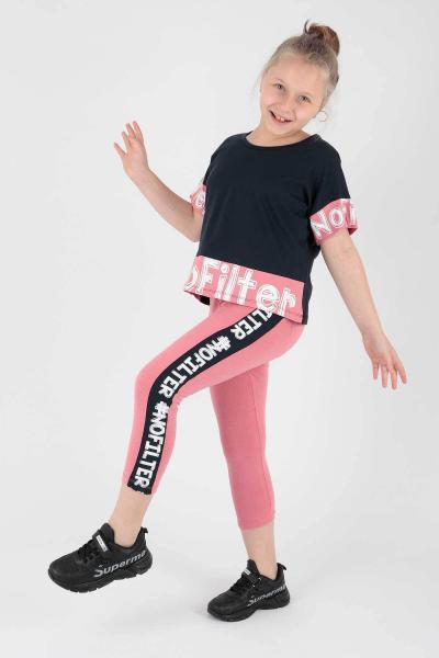 ست لباس 2021 دخترانه برند Ahenk Kids رنگ لاجوردی کد ty107212202