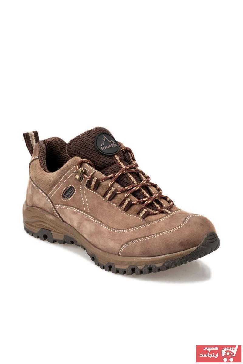 خرید پستی کفش کوهنوردی زیبا مردانه برند کینتیکس kinetix رنگ نقره ای کد ty29681159