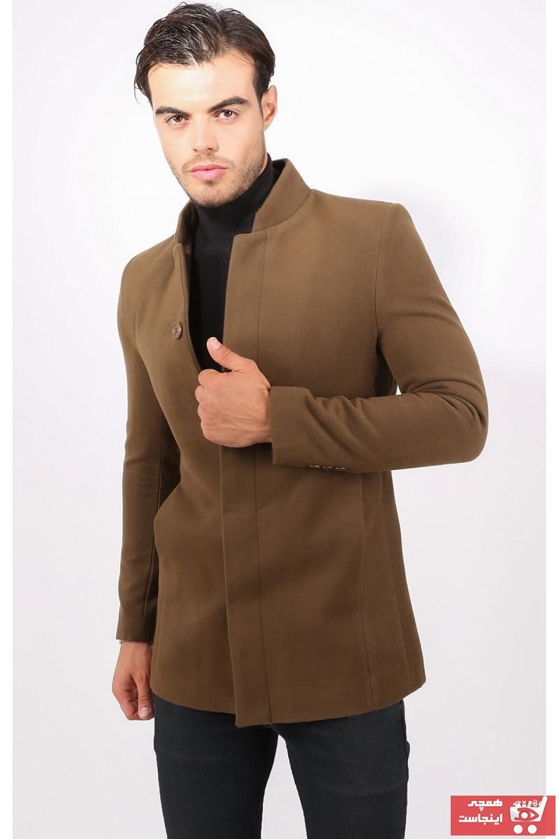 پالتو مردانه زیبا برند Delpino رنگ قهوه ای کد ty31350052