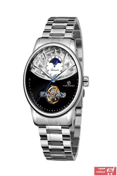 خرید پستی ساعت مردانه 2021 برند Forsining رنگ نقره کد ty31359926