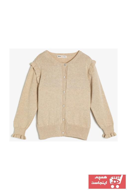 خرید ارزان ژاکت دخترانه فانتزی برند Koton Kids رنگ بژ کد ty32049732