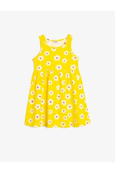 پیراهن دخترانه ترک برند Koton Kids رنگ زرد ty35813320