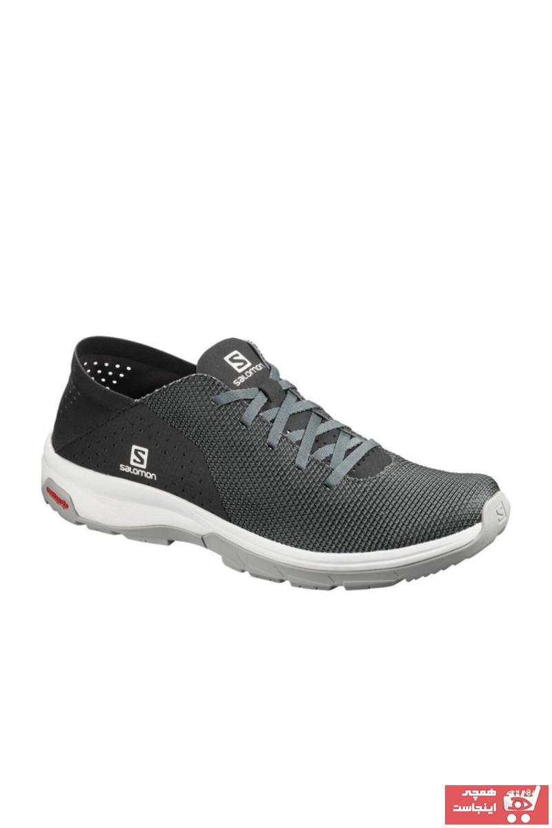 کفش کوهنوردی مردانه حراجی برند Salomon رنگ نقره ای کد ty35850771