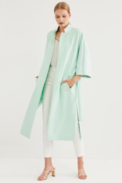 پالتو زمستانی زنانه برند Perspective رنگ فیروزه ای ty36373671