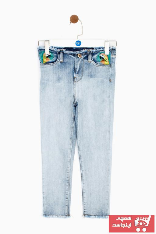 خرید انلاین شلوار لی بچه گانه دخترانه طرح دار برند Tyess رنگ نقره ای کد ty36764265