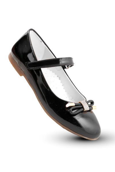 ژورنال کفش تخت بچه گانه دخترانه برند KAPTAN JUNIOR رنگ مشکی کد ty38119396