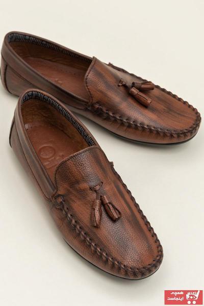کالج جدید مردانه شیک برند Elle Shoes رنگ قهوه ای کد ty42334038