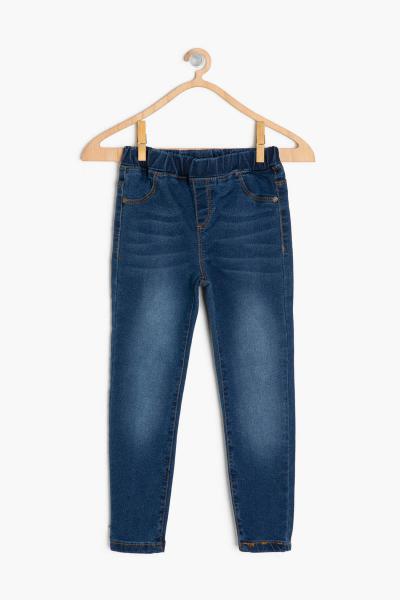 شلوار جین بچه گانه دخترانه پارچه ارزانی برند Koton Kids رنگ آبی کد ty4259164