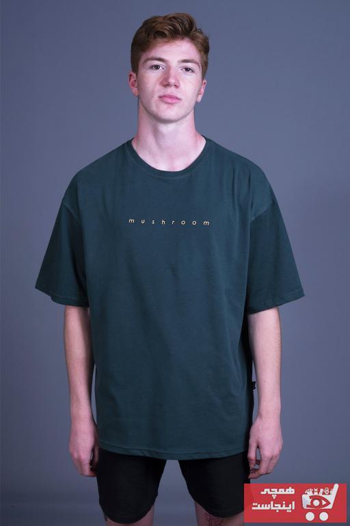 فروش تیشرت مردانه شیک و جدید برند Mushroom Apparel رنگ سبز کد ty44169335