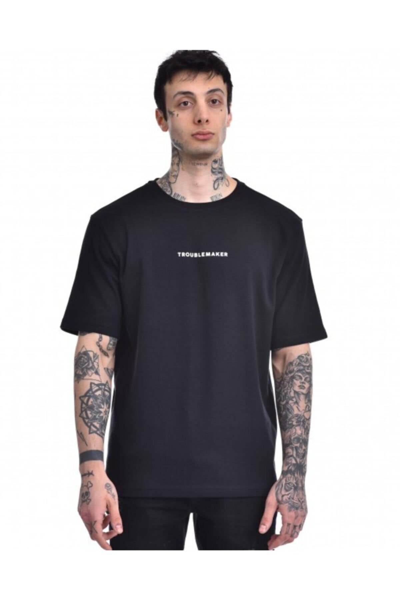 تیشرت مردانه 2020 برند Troublemaker رنگ مشکی کد ty46277515