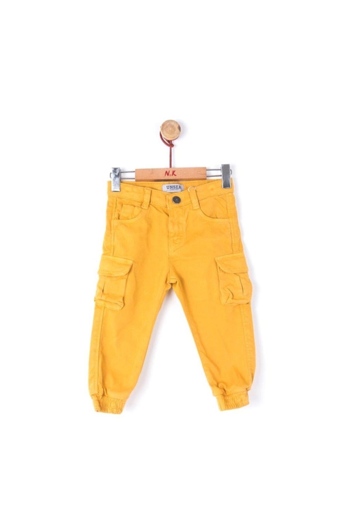 شلوار ارزان بچه گانه برند nk kids رنگ زرد ty48058694