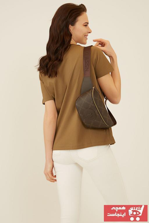 خرید اسان کیف کمری زنانه اورجینال برند U.S. Polo Assn. رنگ قهوه ای کد ty49284397