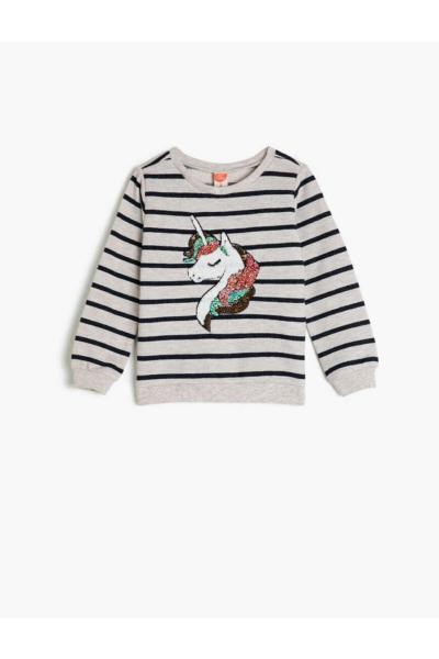 سویشرت فانتزی نوزاد دختر برند Koton Kids رنگ لاجوردی کد ty49619235