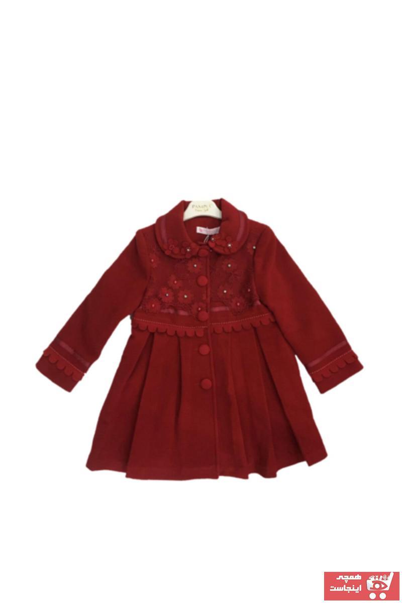 کاپشن دخترانه مارک برند Pamina رنگ قرمز ty52848979