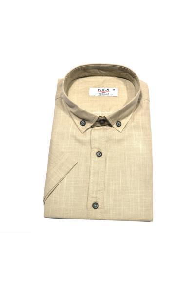 پیراهن کلاسیک مردانه ساده برند KURULAR RİZE BEZLERİ رنگ قهوه ای کد ty54516421