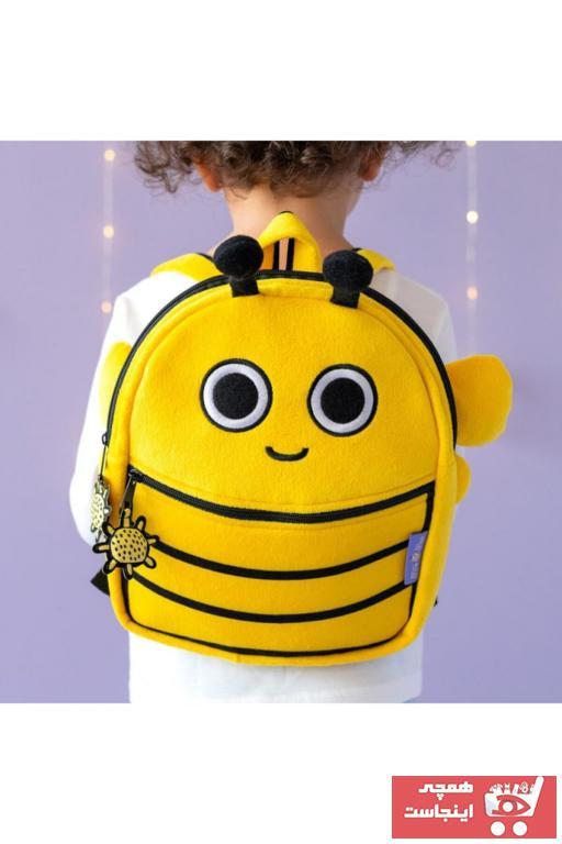 خرید کوله پشتی بچه گانه پسرانه شیک مجلسی برند Milk & Moo رنگ زرد ty57629856