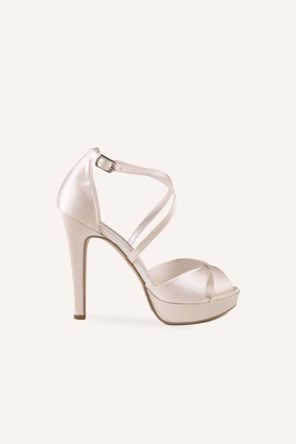 کفش پاشنه بلند مجلسی ارزان برند MARCATELLI رنگ بژ کد ty57969844