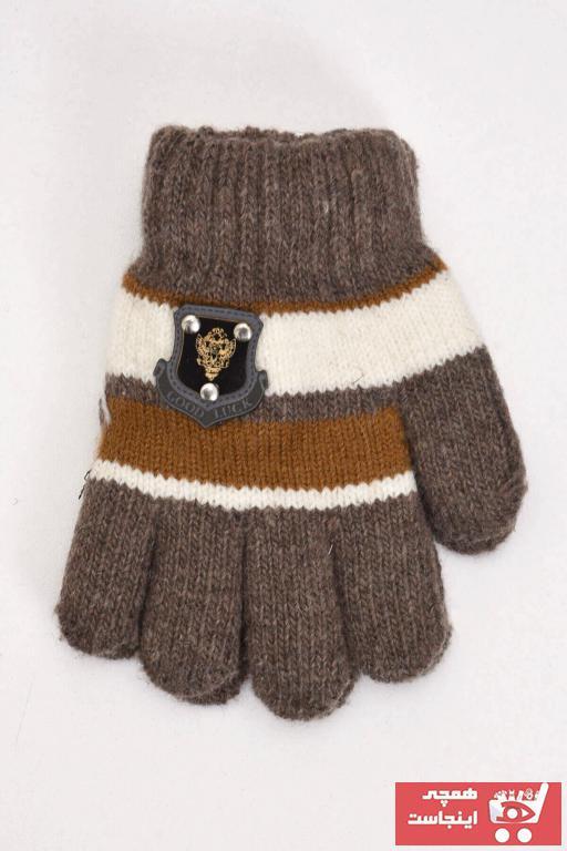 خرید نقدی دستکش بچه گانه دخترانه فانتزی برند Mossta رنگ قهوه ای کد ty58720968