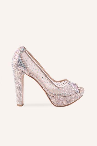 فروش کفش پاشنه بلند مجلسی زنانه جدید برند MARCATELLI رنگ بژ کد ty61909839