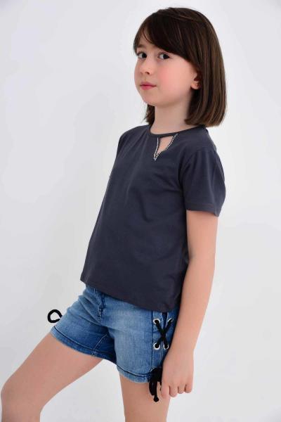 فروش بلوز دخترانه خفن برند Çikoby رنگ نقره ای کد ty6333589