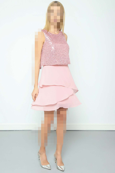 لباس مجلسی زنانه ارزان برند Journey رنگ صورتی ty66900241