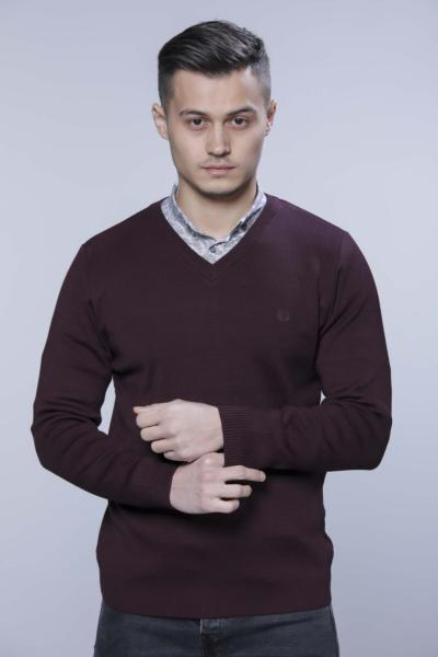 خرید پلیور مردانه ست برند YAMAK رنگ زرشکی ty67945682