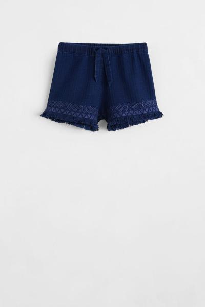 خرید انلاین شورتک دخترانه ترکیه برند مانگو رنگ آبی کد ty6924175