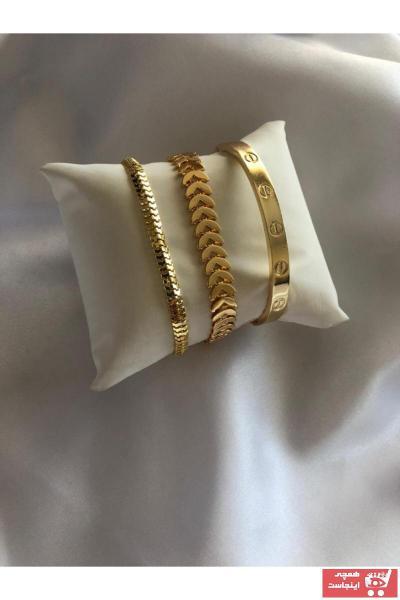 دستبند زنانه ارزان قیمت برند bioaksesuar رنگ طلایی ty71328523