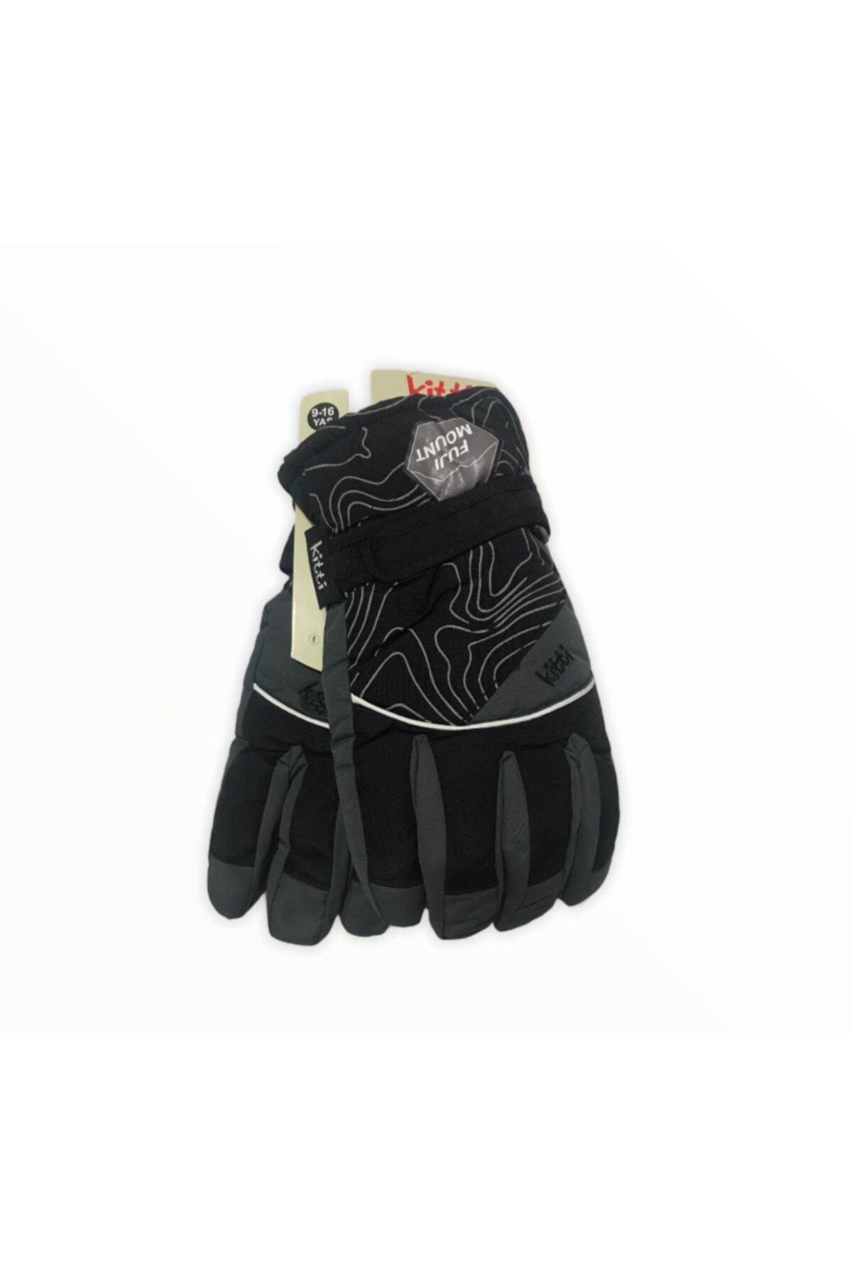 خرید انلاین دستکش طرح دار برند Kitti رنگ مشکی کد ty77853468