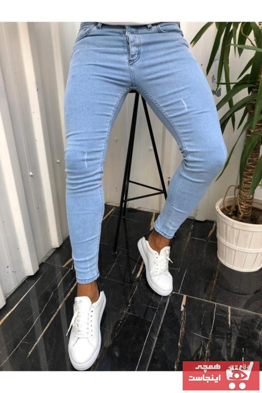 خرید نقدی شلوار جین مردانه ترک  برند ukdwear رنگ لاجوردی کد ty83126824