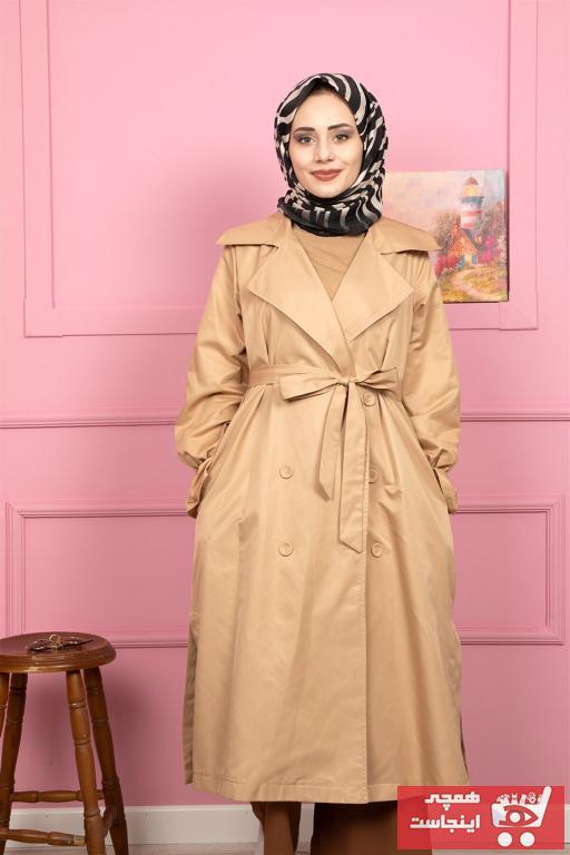 مانتو زمستانی زنانه ست برند HENZA رنگ قهوه ای کد ty85921154