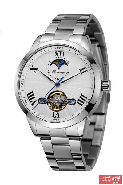 خرید پستی ساعت مچی مردانه اصل برند Forsining رنگ نقره کد ty89175391