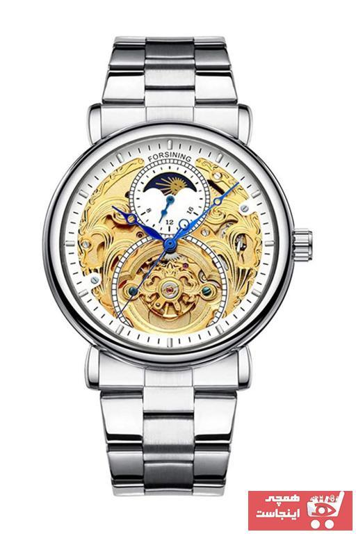 خرید انلاین ساعت مچی مردانه برند Forsining رنگ نقره کد ty89226038