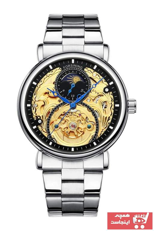 خرید پستی ساعت شیک مردانه2021 برند Forsining رنگ نقره کد ty89227565