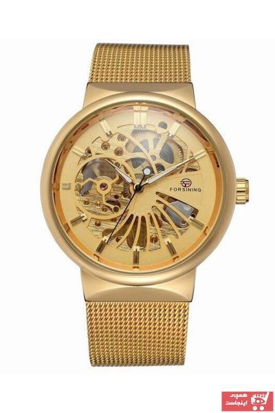 خرید انلاین ساعت مچی مردانه  2021 برند Forsining رنگ طلایی ty89387495