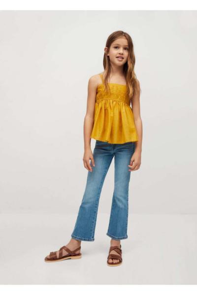 خرید اینترنتی شلوار جین خاص برند منگو رنگ آبی کد ty89856032