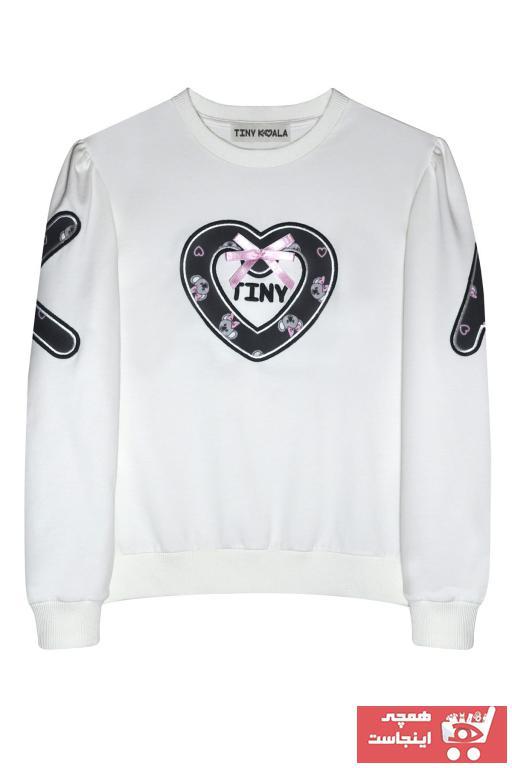 فروش سویشرت دخترانه حراجی برند Tiny Koala رنگ بژ کد ty91558376