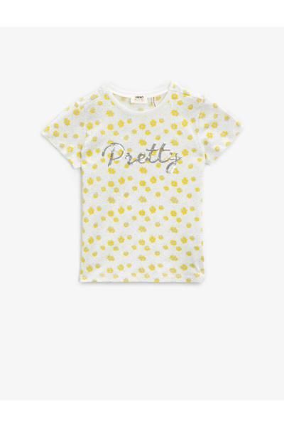 خرید پستی تیشرت دخترانه فانتزی برند کوتون رنگ بژ کد ty93086752